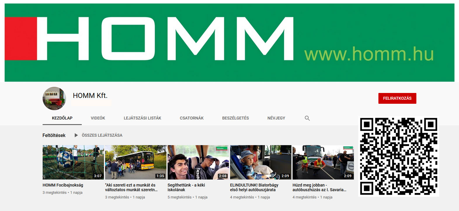 Iratkozz fel a Homm Kft. YouTube csatornájára