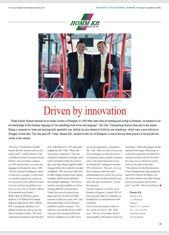 European Business Journal - Homm Kft.